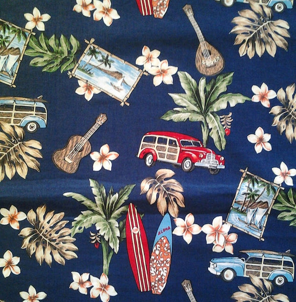 beach themed comforter set Navy blue with red woody cars