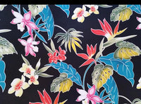 Tropical Valance Island Batik Black