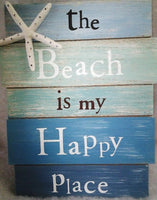 The Beach is my Happy Place Wood Sign