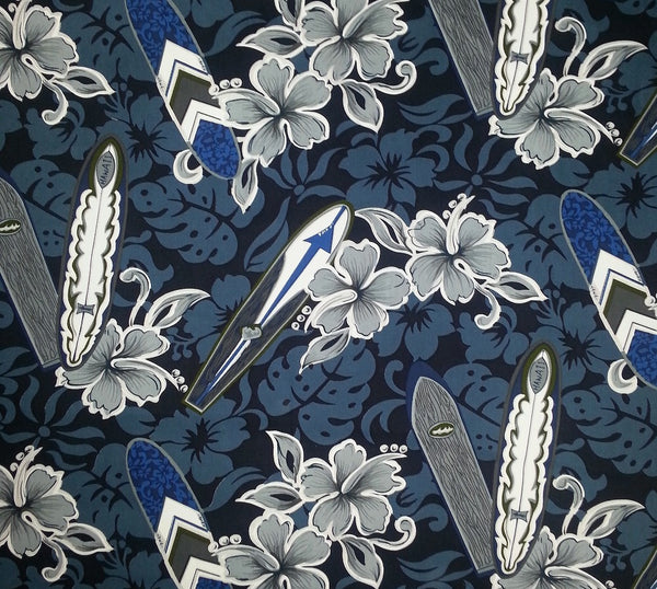Tab Top Valance Surf Print Valance Blue Gray surfboards