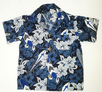 Hawaiian Shirt Surfboard Print Blue Gray Surfboards  6 m to men's 3 xl