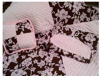 Custom baby bedding Pink and Brown