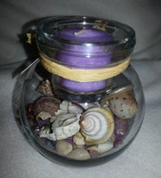 Seascape Candle Holders Lavender