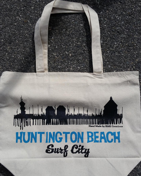 Canvas Tote Bag Huntington Beach