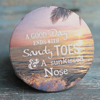 Car Cup Coaster  Sandy Toes Sunkissed Nose