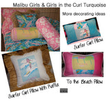 surfer baby blanket Girls in the Curl Turquoise