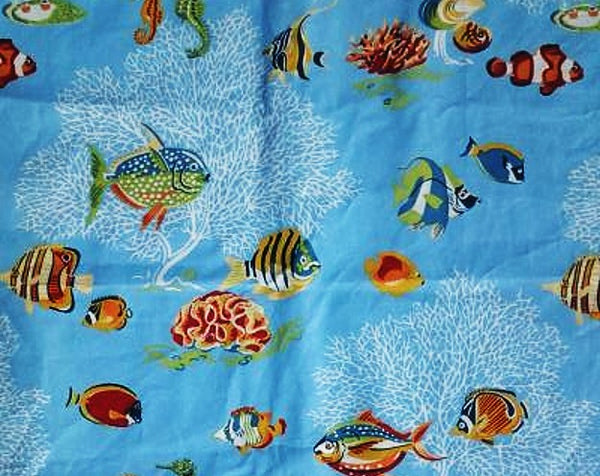 Ocean themed Pillow Go With the Flow Ocean Blue