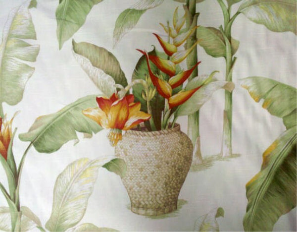 bed skirt Tropical Heliconia