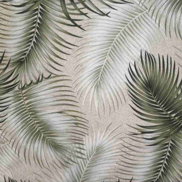 Tropical Chair Pads Sage Green palm leaf design