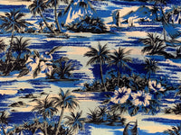 Curtain Lost in paradise Navy blue
