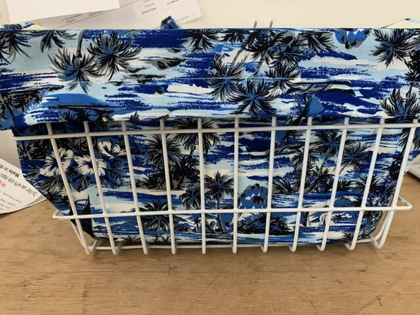 Bike Basket Liner lost in Paradise Navy
