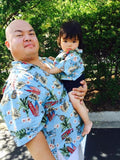 Customer Pictures Matching Father and Son Hawaiian Shirts