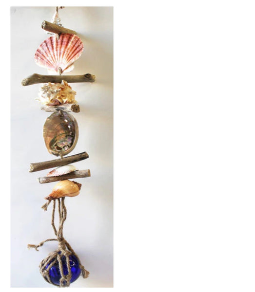 Seashell Mobile with small Glass Float