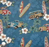 Tiki Valance North Shore Navy