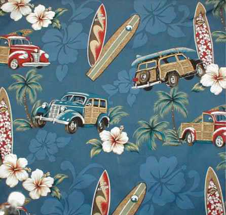 Surfer shower-curtain North Shore Navy