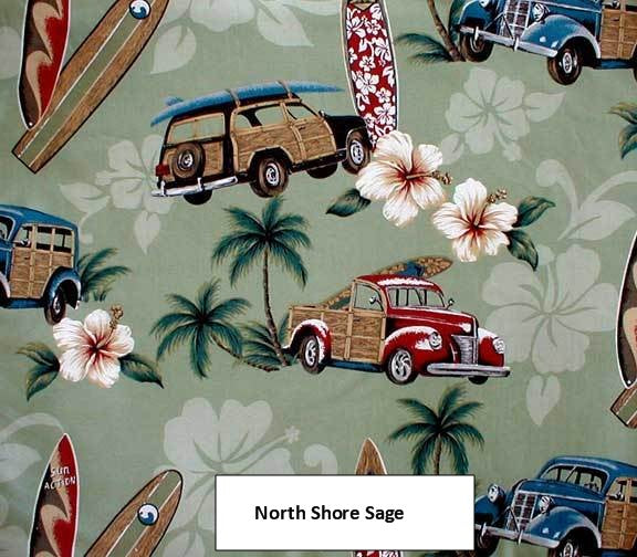 Bedspread Beach themed North Shore Sage