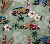 Beach Shower curtain North Shore Sage