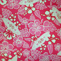 large Surfer theme Pink Surfboards Throw Blanket