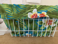 Bike Basket Liner Plumeria Rectangular