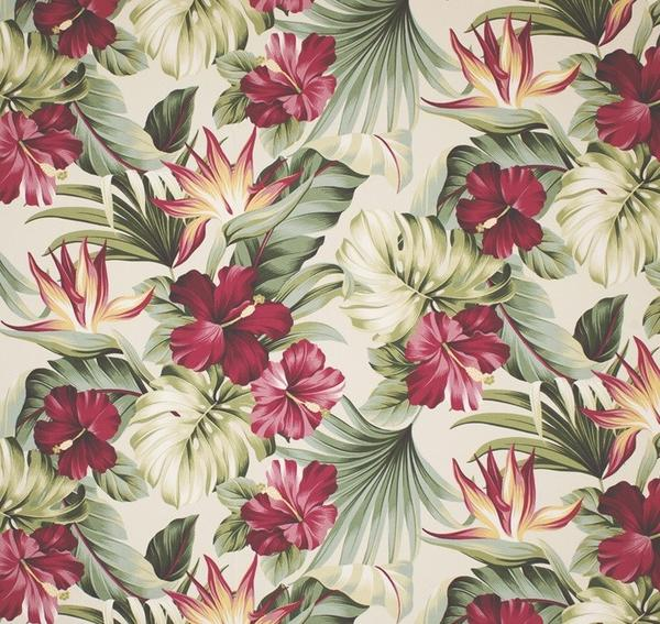 Hawaiian Bark cloth sham Hawaiian flowers