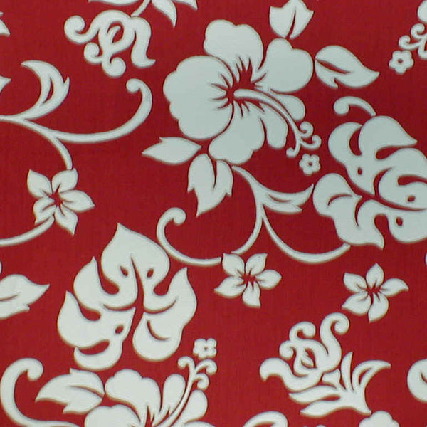 Christmas Tree Skirt Red & White  Hibiscus