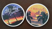 Car Coaster Set  Lets do Sunset &  California Sunset