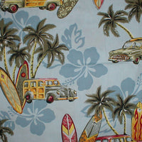 Hawaiian Shirt Surfer Dude blue    6 M to Men's 3 xl