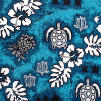 Tropical Shower Curtain Teal Turtles