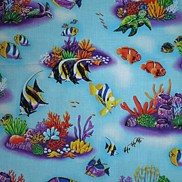Lampshade Nautical Tropical Fish