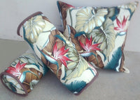 Tropical throw pillow Leaves Natural