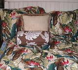 duvet cover set  Tropical Leaves Natural