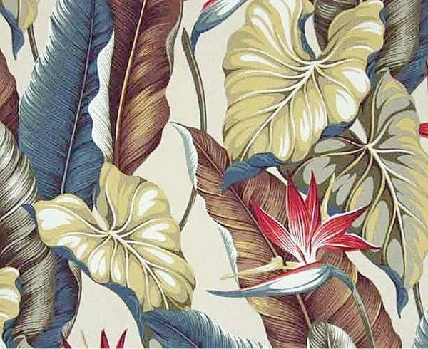 Tropical Shower Curtain Tropical Leaves Natural