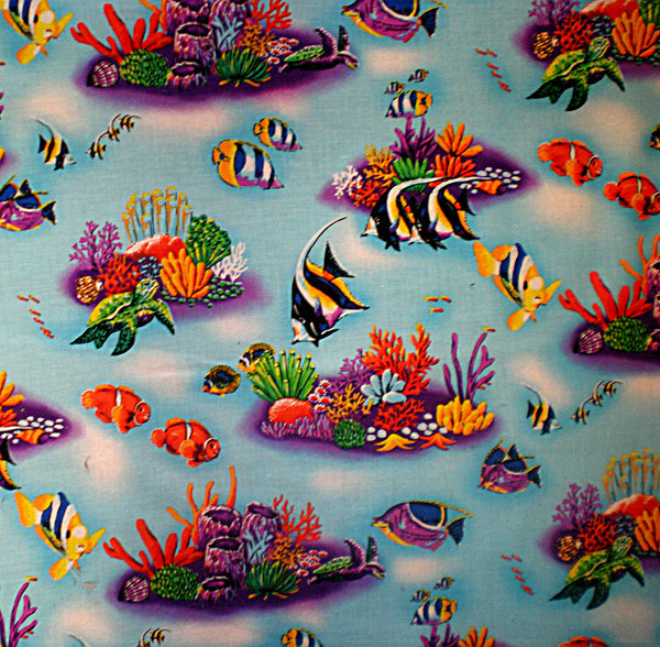 Ruffled Crib Skirt Ocean theme Tropical Fish