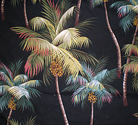 Valance Tropical  Waikiki Palm Black