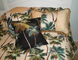 Comforter set  Tropical Waikiki Palm Natural