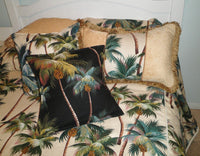duvet cover set  Tropical Waikiki Palms Natural