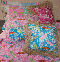 bedspread Girls in the Curl Pink