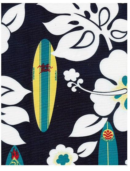 Baby Blanket with Satin Trim Surf Theme Honolua Surf