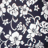Hawaiian Pillow Cases | shams  Navy and White Hibiscus