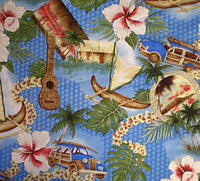 Hawaiian pillow cases Road to Hana Blue