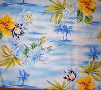 Comforter Tropical Bedding Set King size  Tropical Oasis Blue