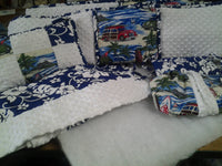 Crib Set 4 Piece  Woody At Diamond Head Patchwork