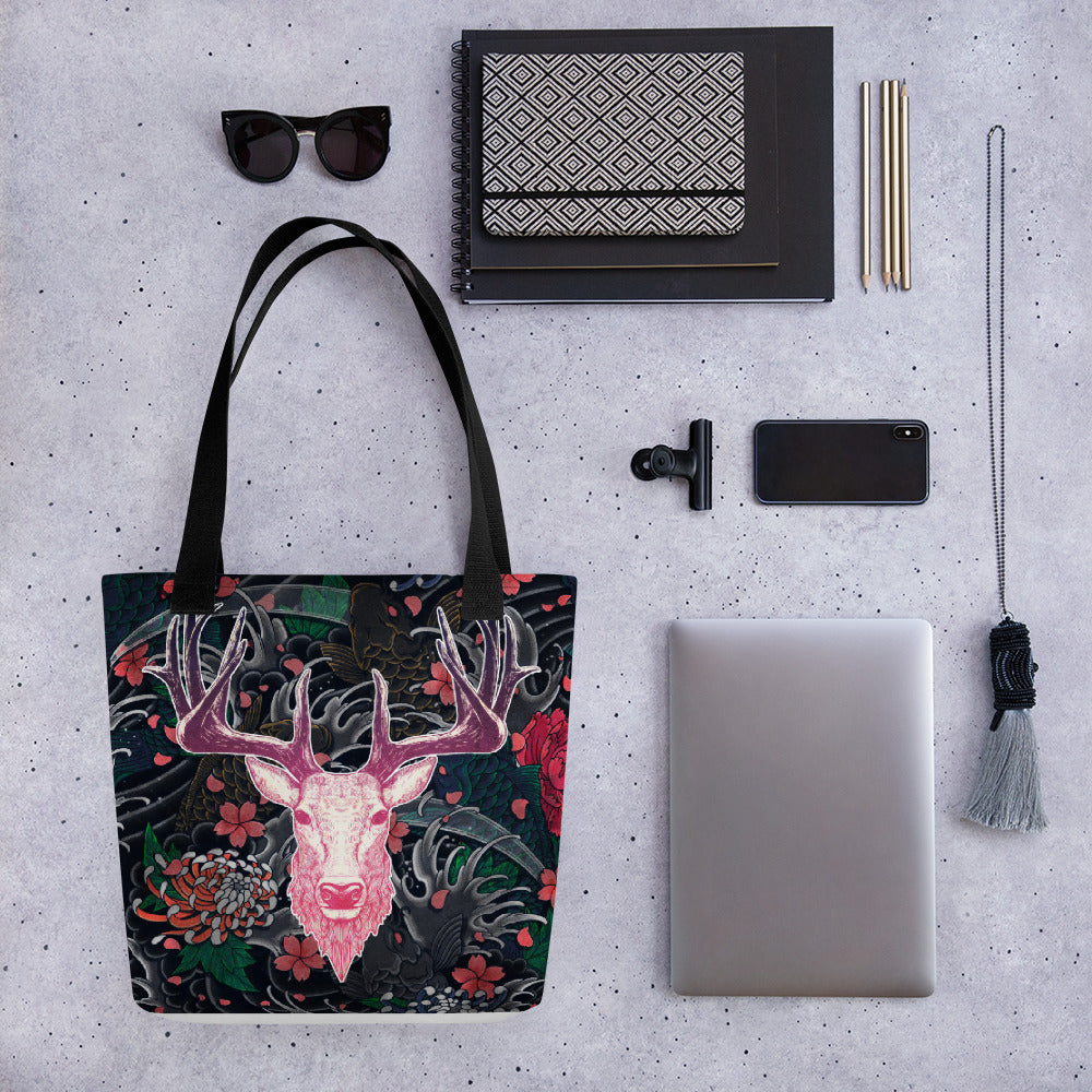 Tattoo Roselight | Antlers & Accents | Designer Tote bag