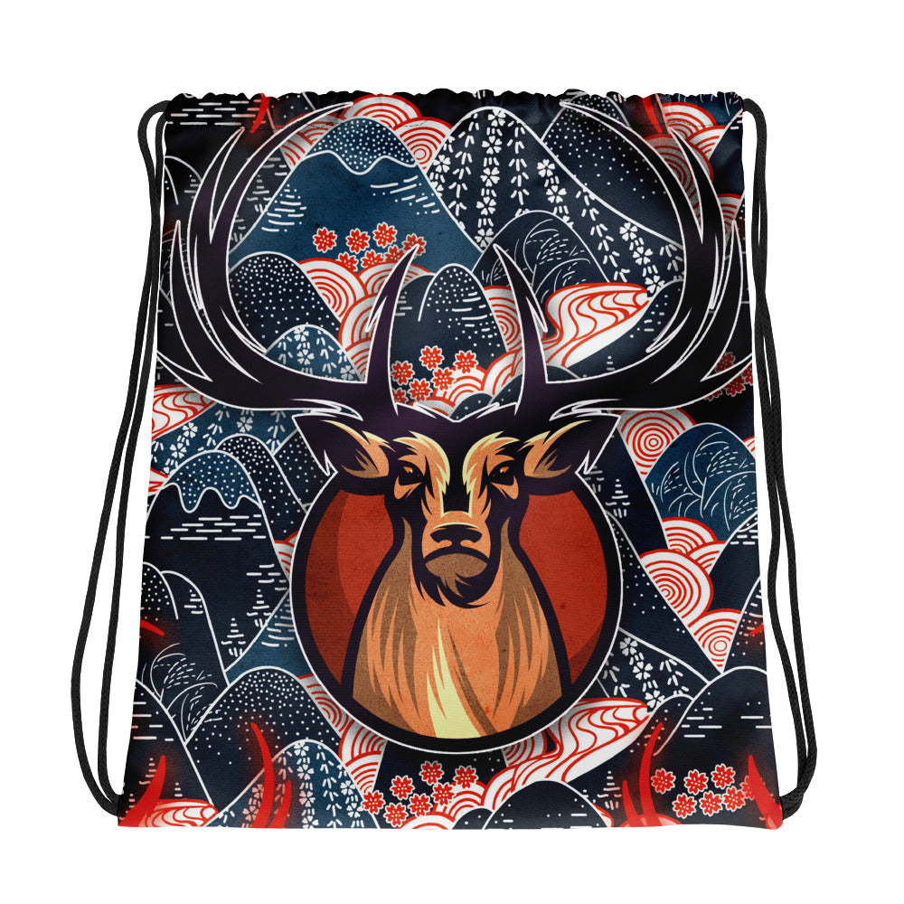 The Rolling Hills | Antlers & Accents | Designer Dice Drawstring bag