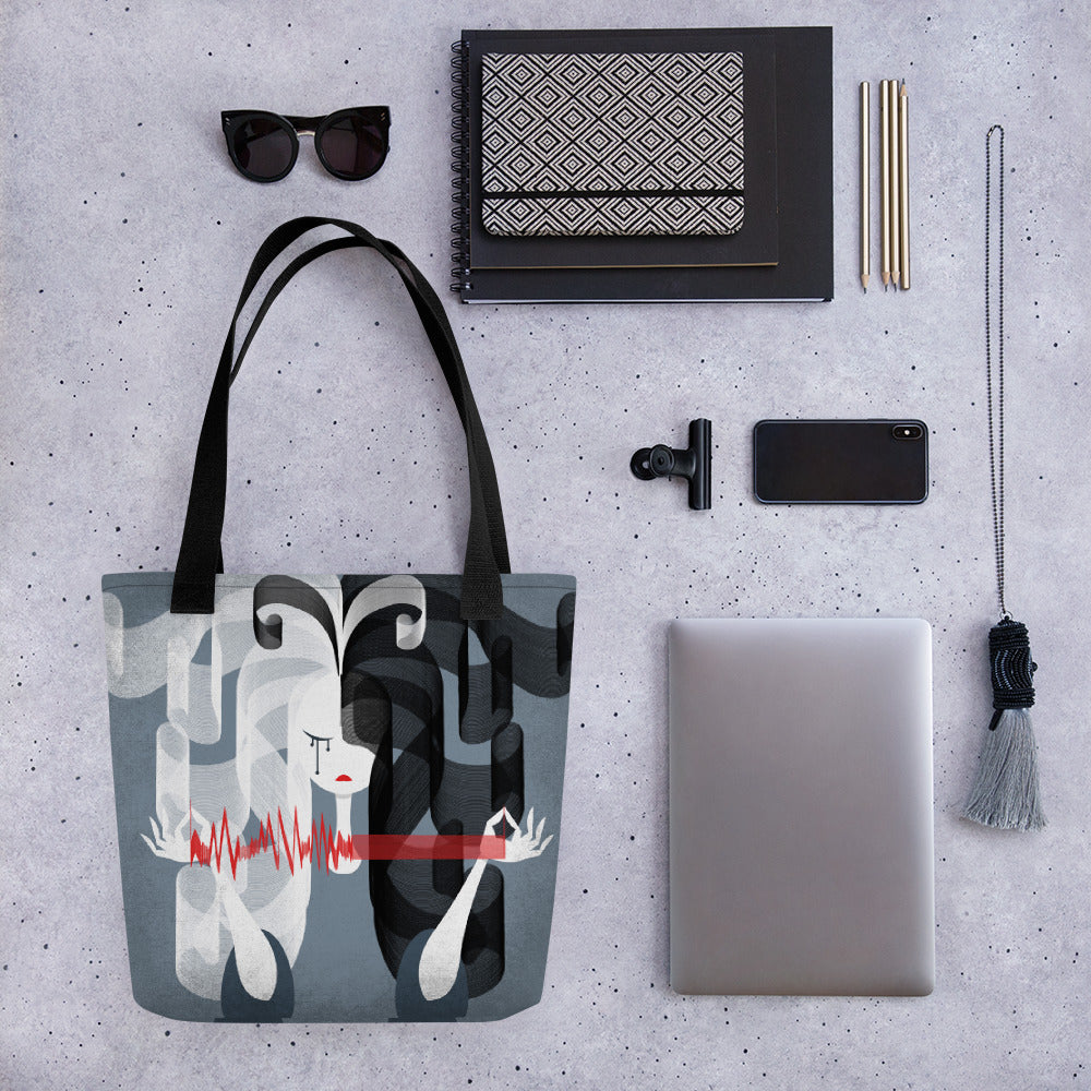 YinYang Lifeline | FragMental LifeLines | Designer Tote bag