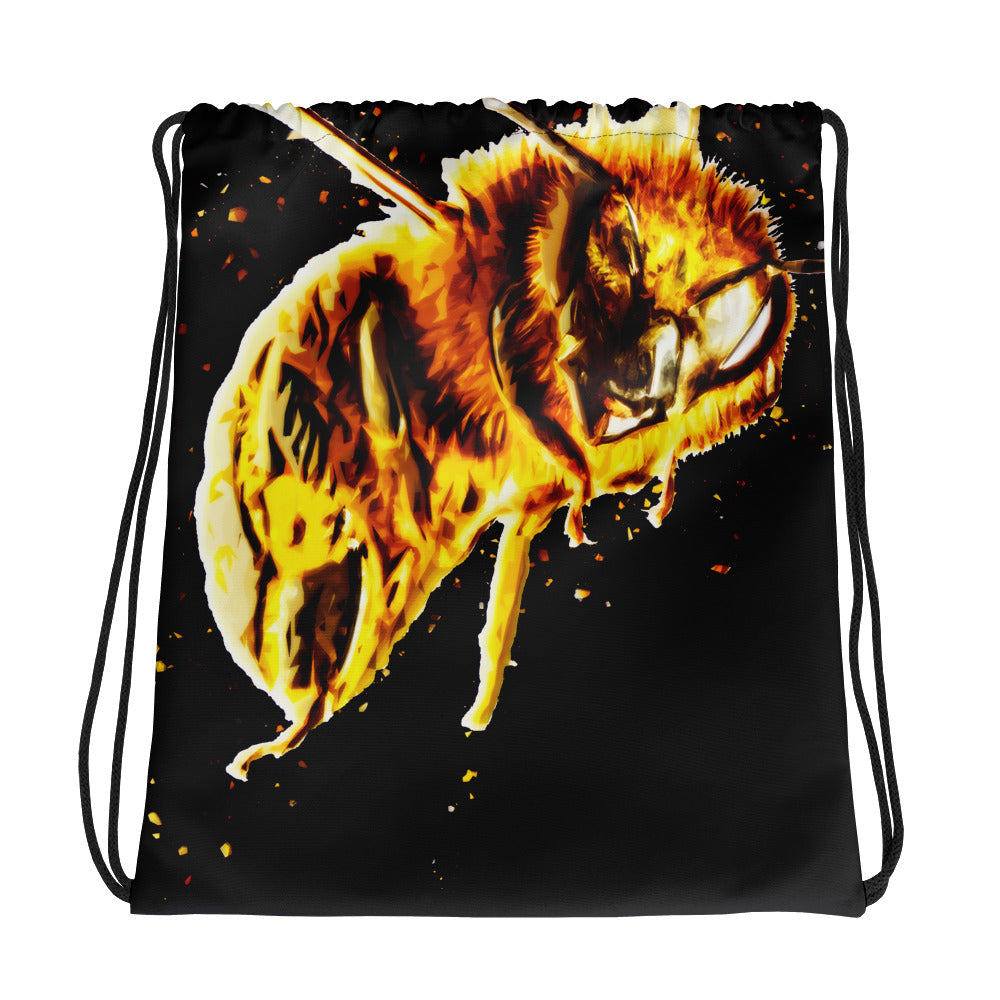 Bee Bomber | HoneyPaint II | Designer Dice Drawstring bag