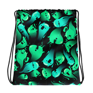 Radioactivity | Designer Dice Drawstring bag