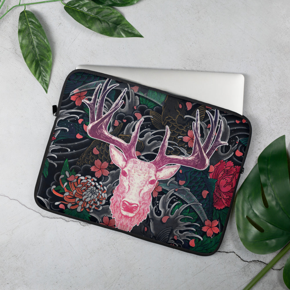 Tattoo Roselight | Antlers & Accents | Designer Laptop Sleeve
