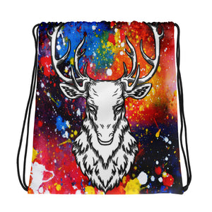 Cosmic Cataclysmia | Antlers & Accents | Designer Dice Drawstring bag