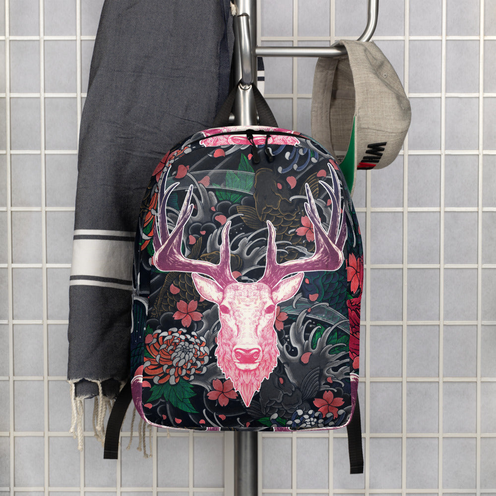 Tattoo Roselight | Antlers & Accents | Designer Minimalist Backpack